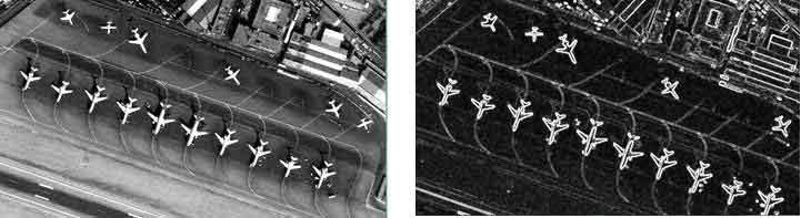 تصویر سمت راست : تصویر تیز شده پس از اعمال فیلتر