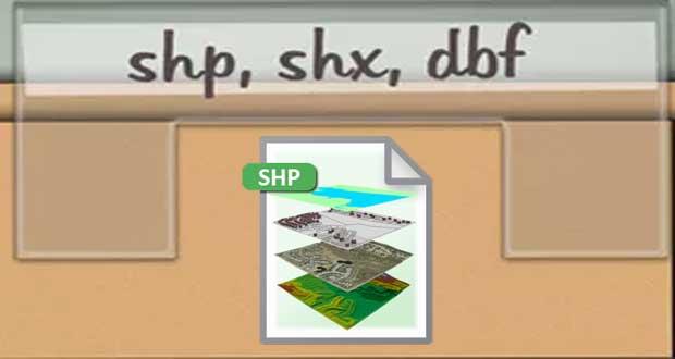 یک Shapefile میبایست حداقل حاوی سه فرمت اصلی shp، dbf و shx باشد