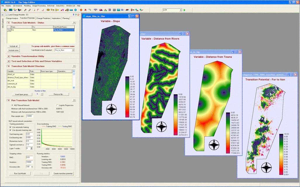 توسط ابزارهای مختلف GIS میتوان بخوبی داده های مکانی را تجزیه و تحلیل نمود