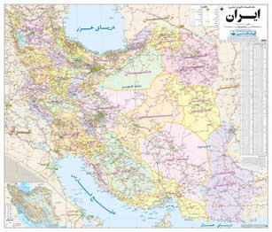 نقشه چاپ شده تقسیمات کشوری ایران