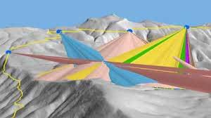 تعیین میدان دید یکی از کاربردهای مهم مدل رقومی ارتفاع ( DEM ) محسوب میشود