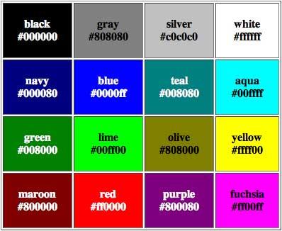 Hexadecimal_Color_Samples