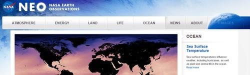 داده های GIS ای رایگان NASA Earth Observations (NEO)