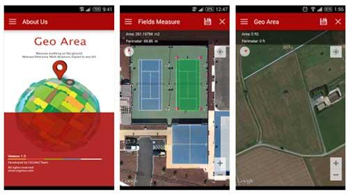 تصاویری از رابط کاربری نرم افزار Geo Area
