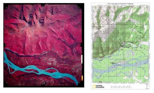 تفاوت عکس و نقشه به حدی زیاد است که نمیتوان به جای نقشه از یک عکس استفاده کرد