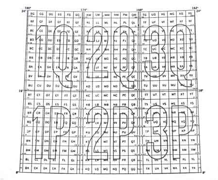نحوه حروف گذاری شبکه 100 کیلومتری