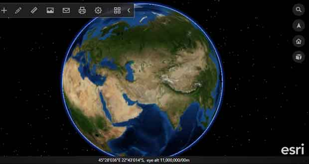 نرم افزار ArcGIS Earth