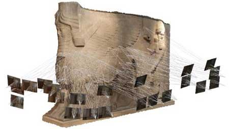 به کمک فتوگرامتری برد کوتاه میتوان از بناهای تاریخی مدل سه بعدی ایجاد نمود