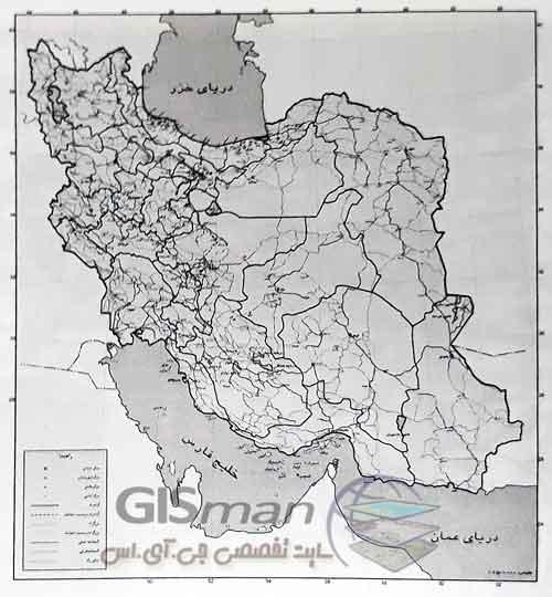 نمونه ای از نقشه مبنا برای تهیه نقشه های موضوعی