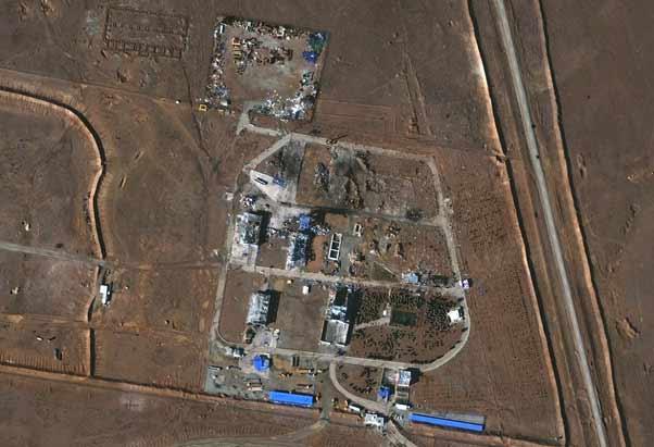 نمونه تصویر اخذشده توسط سنجنده WorldView 2 بر فراز پادگان بیدگنه ایران