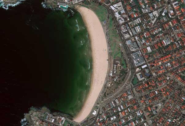نمونه تصویر اخذشده توسط سنجند WorldView 4 بر فراز سیدنی استرالیا