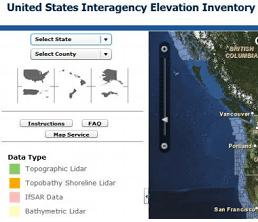 فهرست ارتفاعی بینالمللی ایالات متحده، USIEI، از منابع تامین اطلاعات لیدار