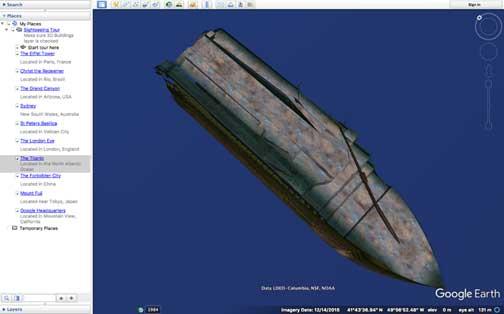 نمایی از کشتی تایتانیک