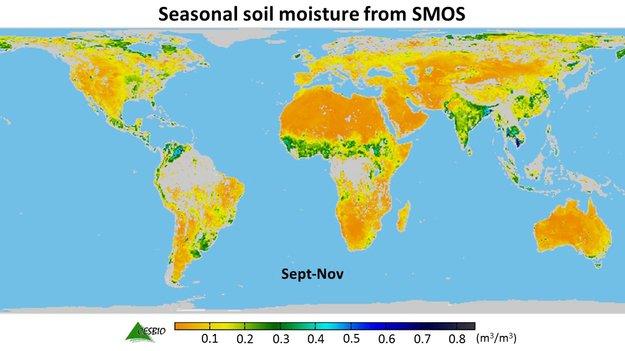 با استفاده از اطلاعات رطوبت خاک که در تصاویر ماهواره SMOS موجود است، میتوان پیش بینی مناسبی از تولید محصولات کشاورزی ارائه نمود.